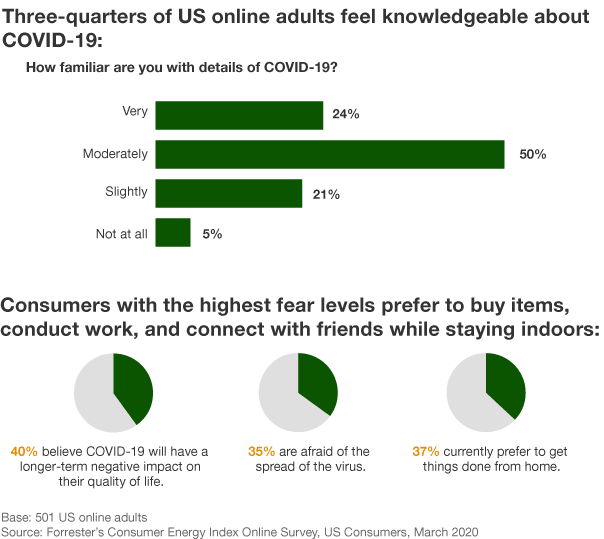 Forrester's Consumer Energy Index Online Survey, March 2020
