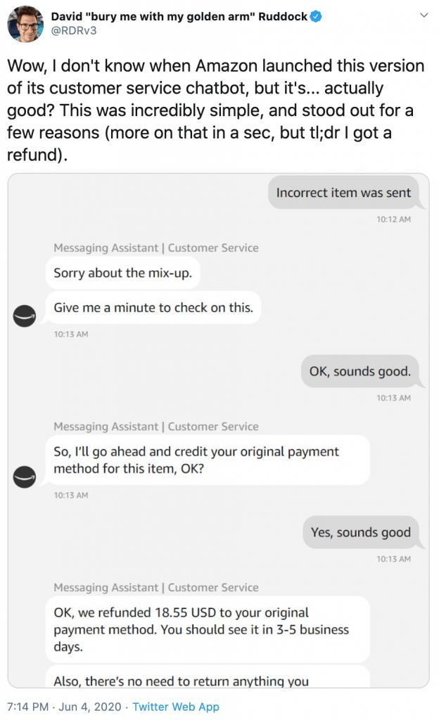 Amazon chatbot