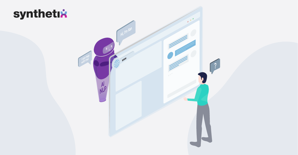 Image that shows how AI and NLP assist customer CX