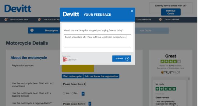 Mopinion: Devitt Exit Feedback Form