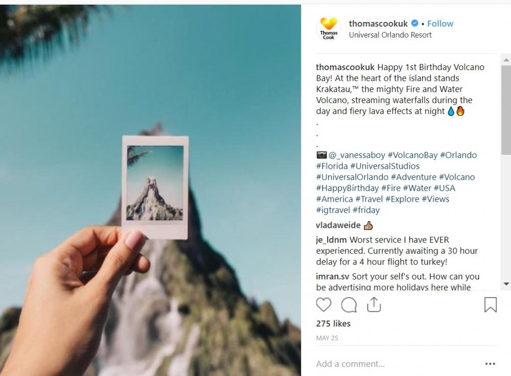 Instagram Thomas Cook