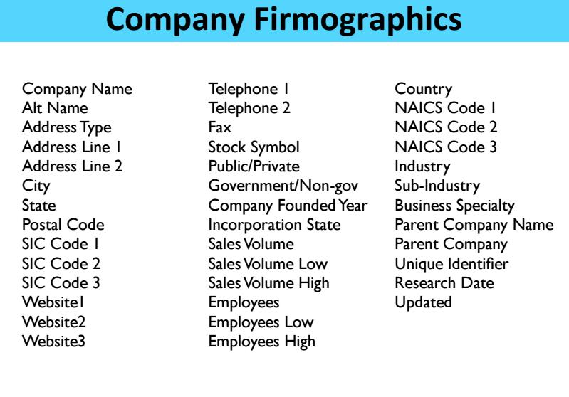 marketing firmographics provider
