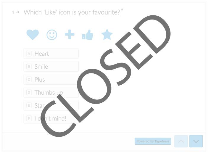An image of the closed survey