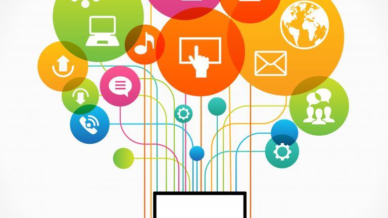 Flat design vector concept network communication