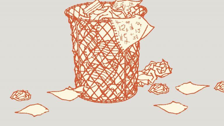 Waste bin measurement emotion
