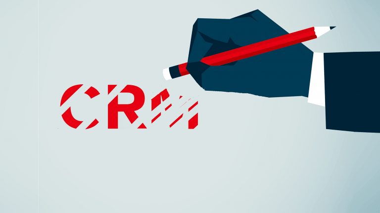 hand erasing CRM letters