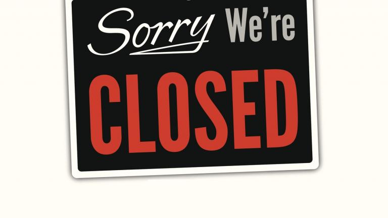 Closed sign store closure