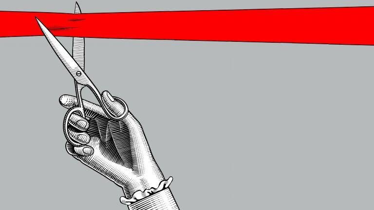 Red ribbon John Lewis