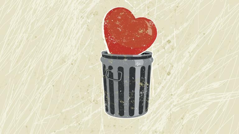 Heart bin