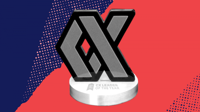 CX Leader of the Year 2021 trophy