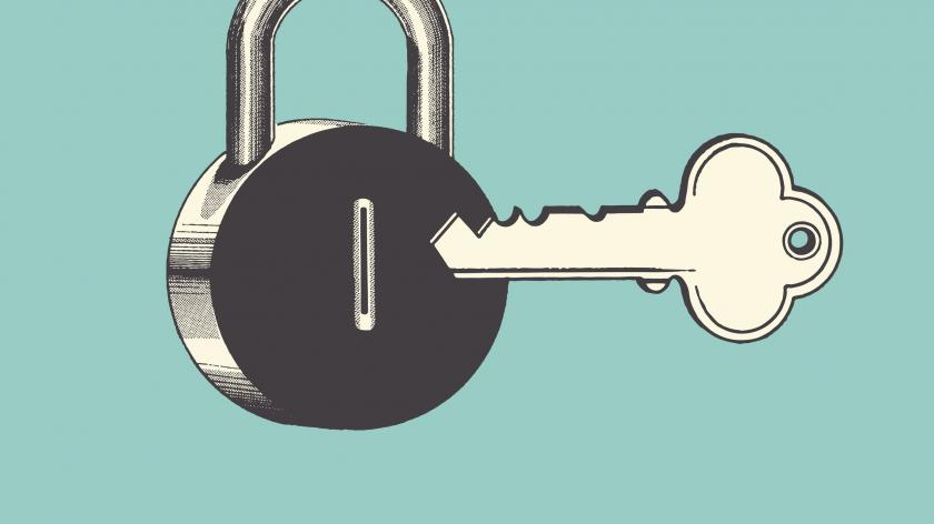 Lock key data privacy