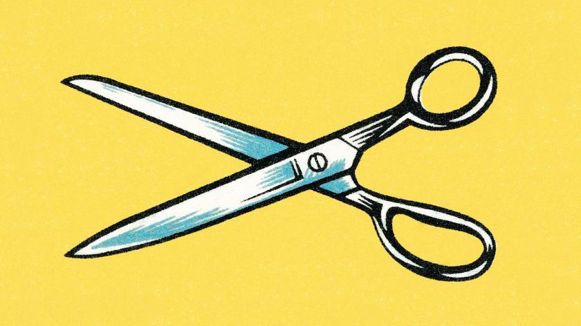 scissors cut spend