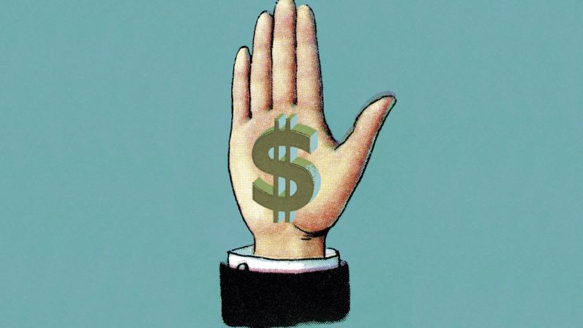 Dollar hand