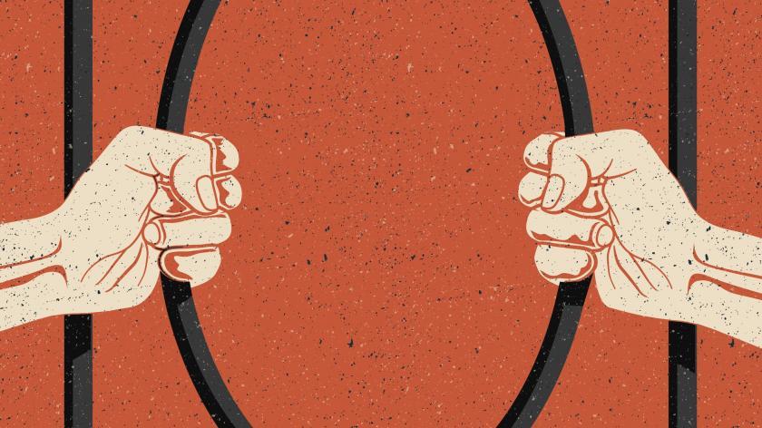 Prison bars lockdown