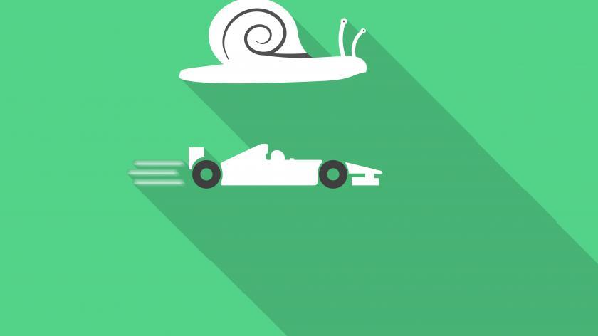 Snail and racing car
