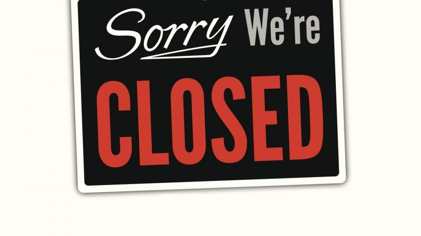 Closed sign store closure