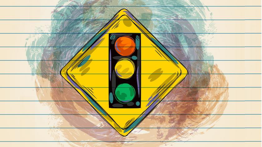 traffic lights change