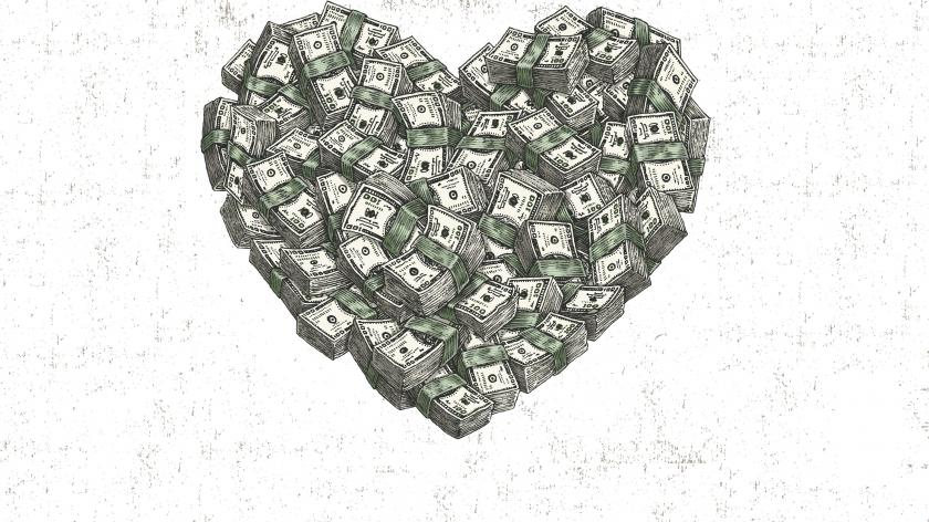 Customer emotion money heart