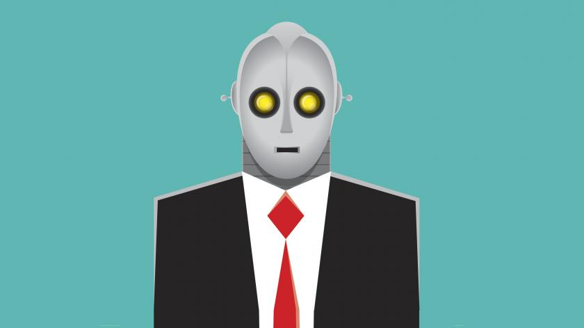 Robot businessman