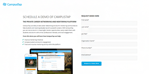 Campustap home page