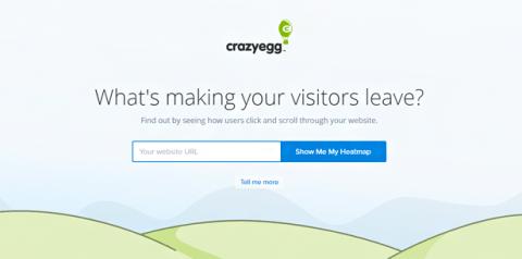 Crazy Egg home page