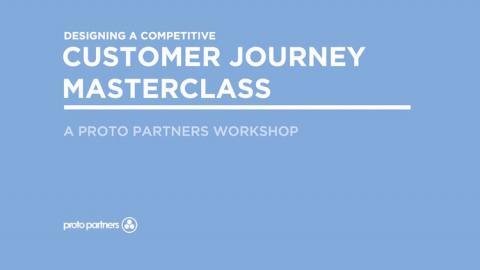 First slide of the customer journey masterclass slide deck