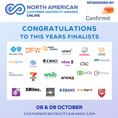 Finalists North American Customer Centricity Awards 2020