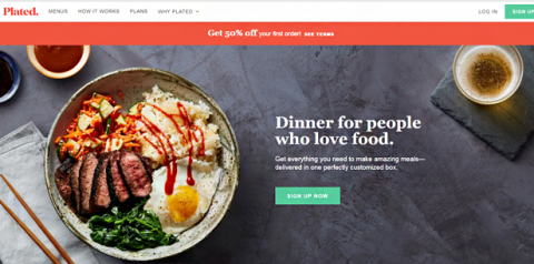 Plated home page