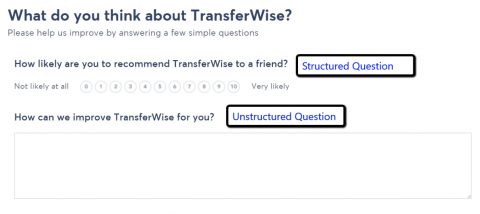 Structured and unstructured question examples