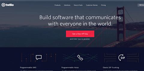 Twilio home page