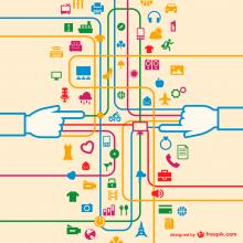 Connected retail graphic