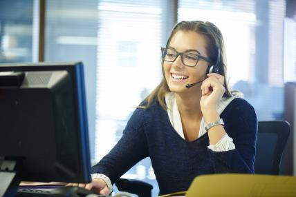 Young call centre rep