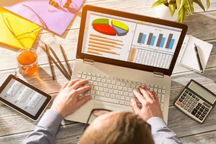 Marketing Graph Statistics Digital Analysis Finance Concept