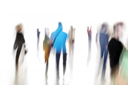 abstract group of people