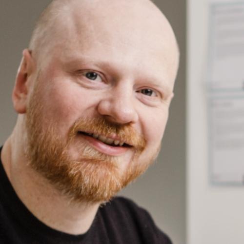 Portrait photograph of Paul-Jervis Heath